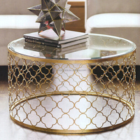 CN8009 Reticulation Golden paninted Living Room Table