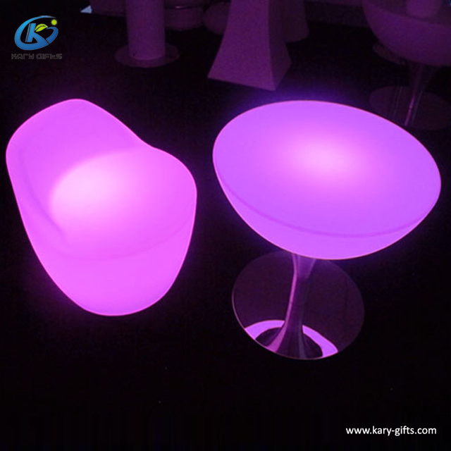 Wedding Lounge Outdoor Plastic light up bar led chair