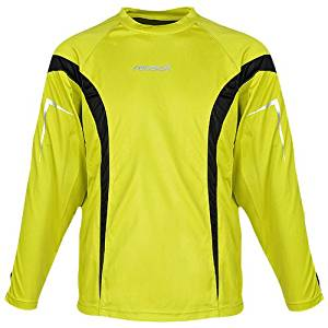 599d2009925 Get Quotations · Reusch Adult Gomar Goalkeeper Jersey, Canary Yellow/Black,  Large