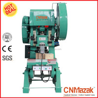 J21 200 tons open back power press with inclinable bed and fixed table