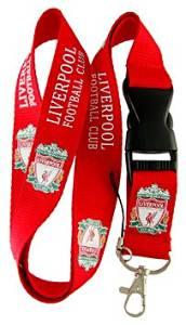 Football Club: LIVERPOOL Lanyard - Red Lanyard - DGK neck lanyard - 25mm x 50cm