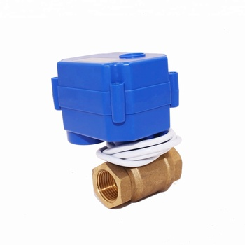 Good price CWX-15 valve electric actuators 2-way 3/4'' brass DN20 DC12v DC9-24v CR04 two wires for water