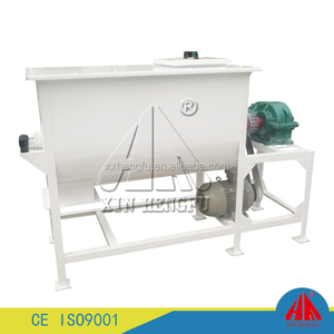 Double helical ribbon used horizontal mixer