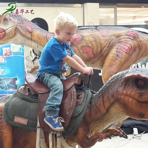 KAWAH Attractive Dinosaur Kids Rides Handmade Walking Animatronic Dinosaur Scooter For Sale