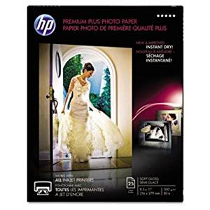 HP Premier Plus Photo Paper - For Inkjet Print - Letter - 8.50quot; x 11quot; - 280 g/msup2; - Soft Gloss - 1 / Pack - White