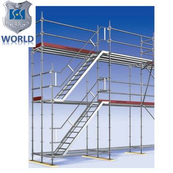 High Quality 860mm Width Scaffolding Step Ladder Metal Stairs