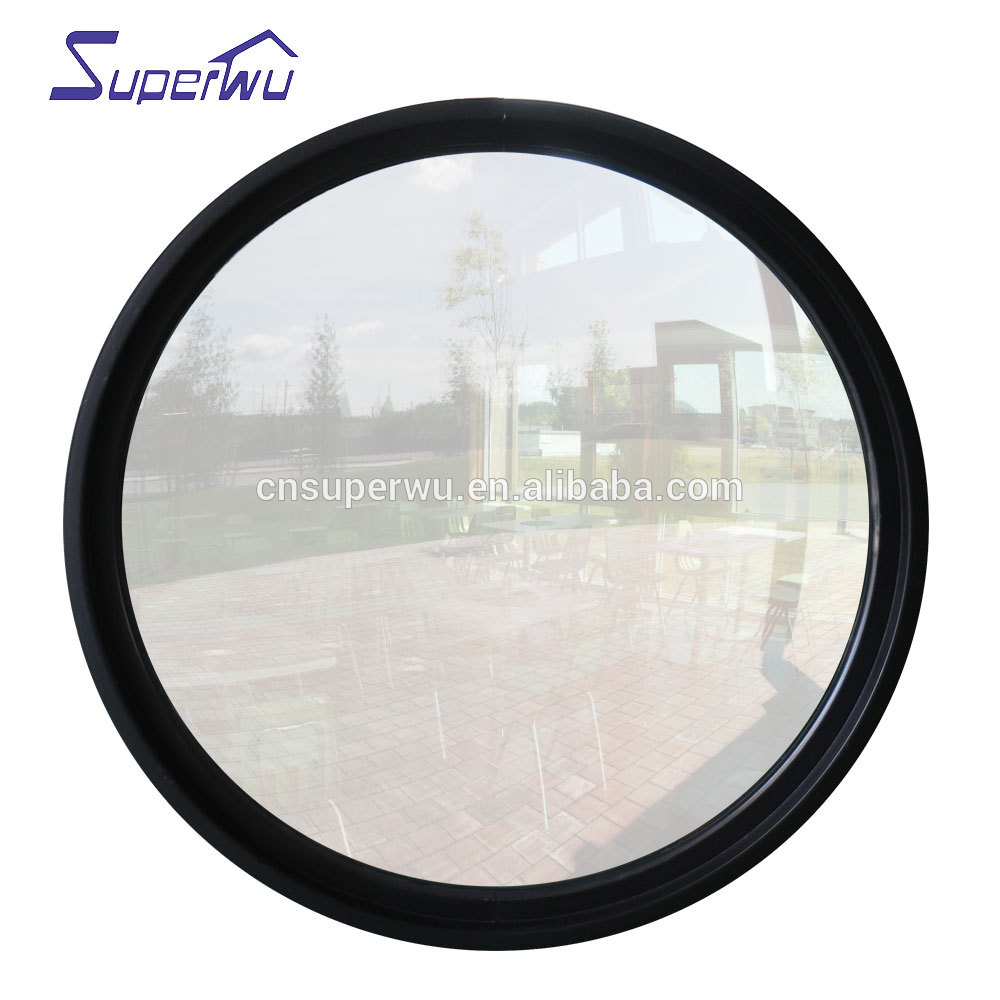 Housetop used circular glass aluminum fixed window as glass skylight