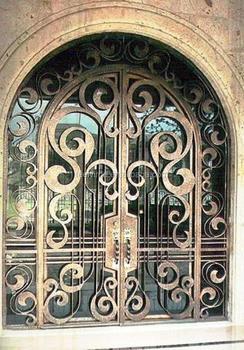 Decorative Wrought Iron Door Grill Design FD 355