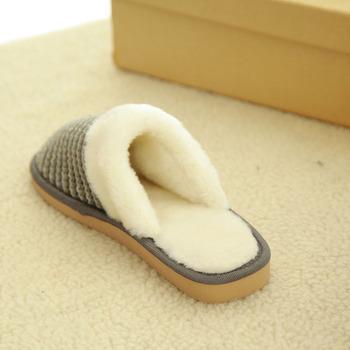 Winter Warm Men Indoor Bedroom Slippers For