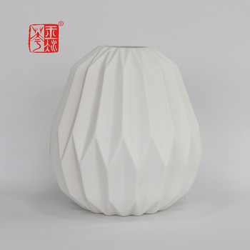 Simple Modern Design Indoor Decoration Ceramic Flower Vase Insert