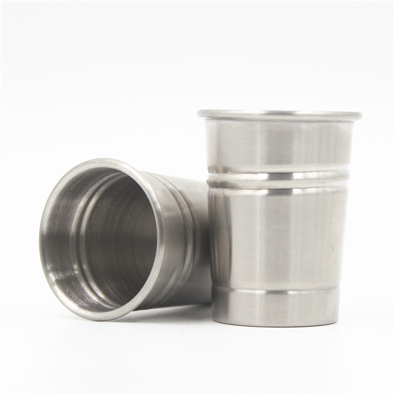 Hot sale premium liquor 50ml whiskey threaded stainless steel <strong>cup</strong>
