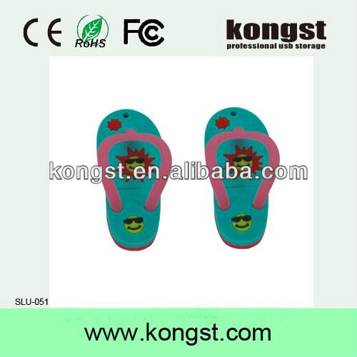 Slippers Shape usb flash disk/4GB pendrive for promotional time