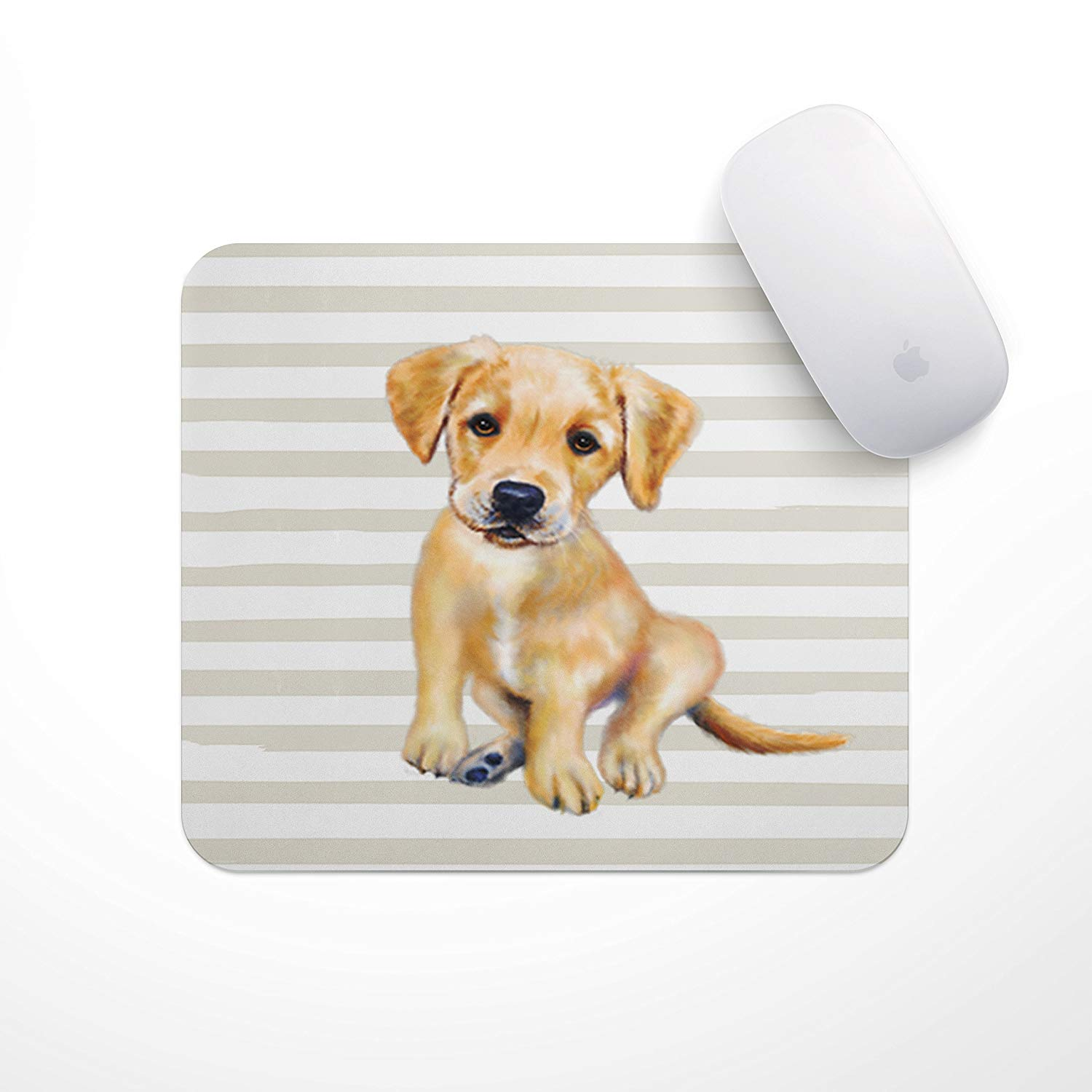 Puppy Mousepad (Yellow Lab Puppy) Puppy Mouse Pad - Perfect for Dog Mom and Dog Dad