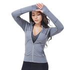 High Quality ultra Soft Long Sleeve Yoga Wear Sports coat Women Fitness Nylon Spandex Yoga