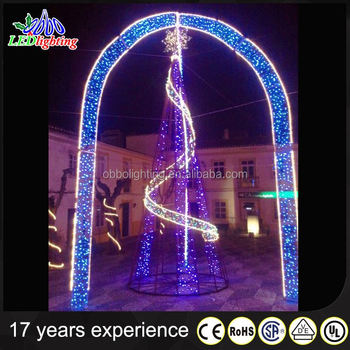 holiday led outdoor christmas decoration 3d motif street arch light led decorative serial lights