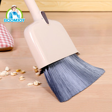 Boomjoy 2017 newest design 4 in 1 broom and dustpan set with customized broom handle.