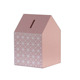 Accept Customized Pink Hut Wooden Piggy Bank