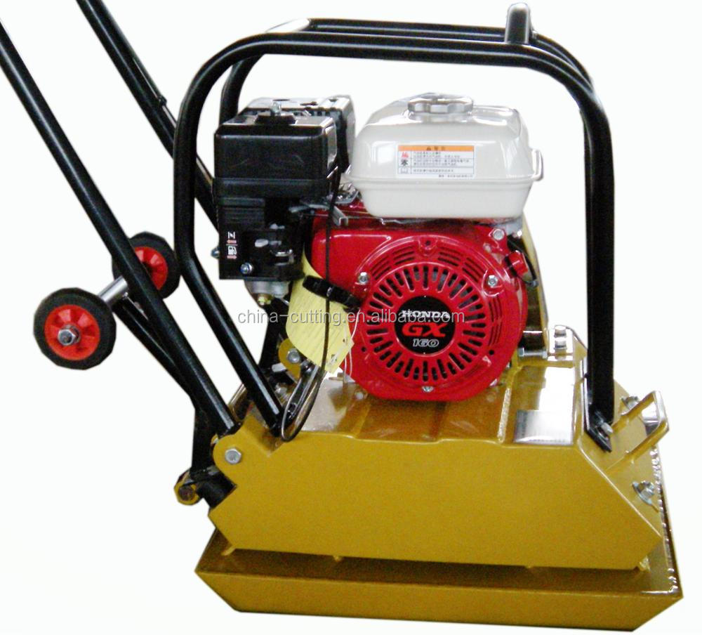 Gasoline Vibratory Plate Compactor With Rubber Plate And Moving Wheel For  Building Road With Ce - Buy Soil Compactor 80kg With Ce,Hand Held Plate