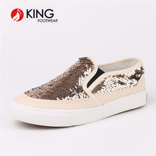 Wholesale New Style Glitter Kid Shoes Children Girl Rose Gold PU Shoes