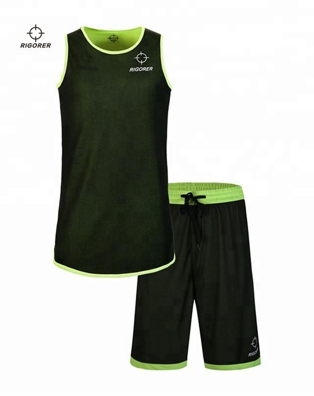 fce0e702a Rigorer reversible basketball jerseys latest design color green jerseys