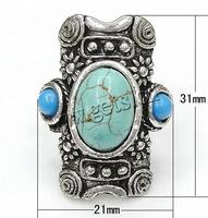 Gets.com zinc alloy taxco silver ring turquoise