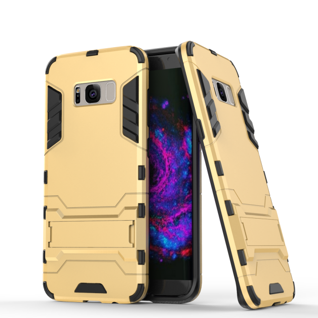 For Samsung Galaxy S8 Hybrid Rugged Stand PC TPU Iron Man Slim Armor Shockproof Case