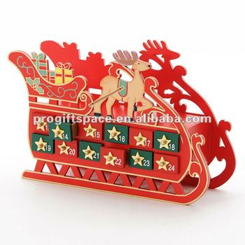 Trineo de madera calendario de adviento buy product on for Trineo madera decoracion