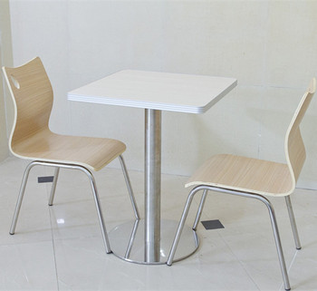 Stainless Steel Leg Bent Wood Chair Metal Dining