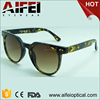 Hot sale fashion plastic unisex sun glasses with pattern