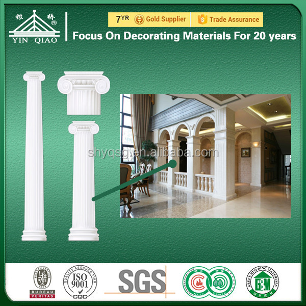 Artistic High Strength Anti-flaming Glassfiber Reinforced Gypsum Rome Pillar for Construction