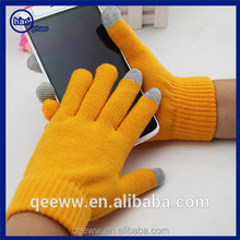 Fashion Winter Touch Screen Texting Gloves Pure Colors Pretty Knitted Three Finger Smart Touch Gloves for Touch All Devices
