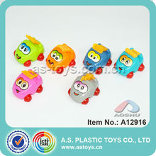 hot sale children toy 6 styles lovely cartoon pull back car with high quality