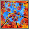 100% handmade Maple leaves modern tree oil painting