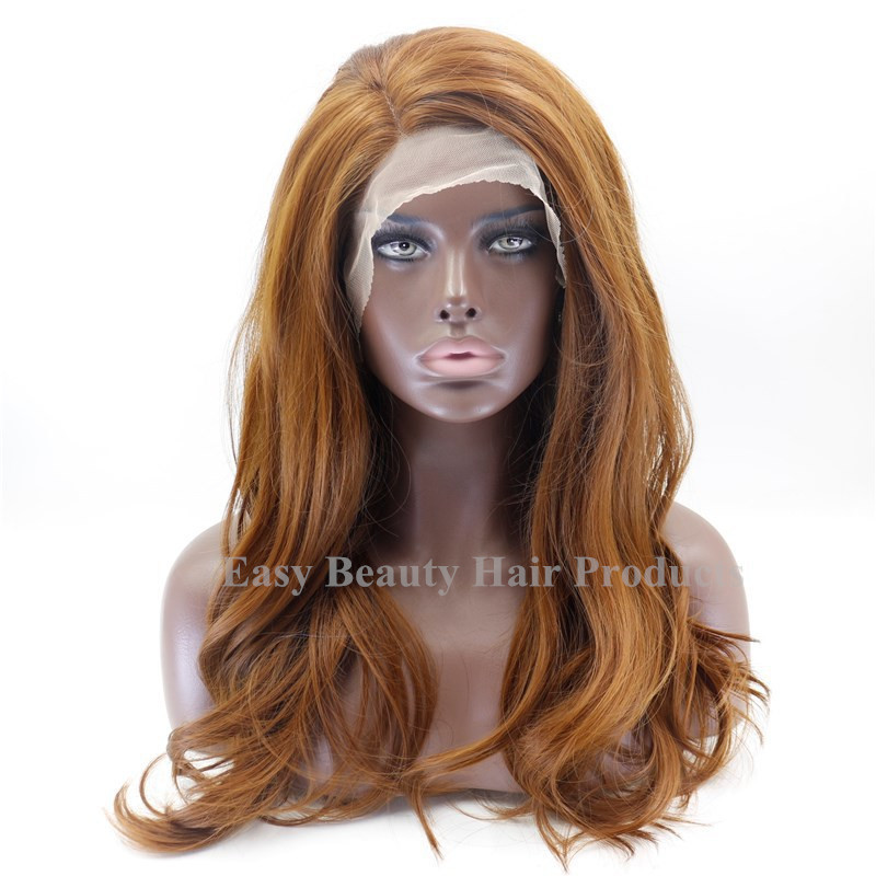 Blonde Wig LOng Body Wave Synthetic Lace Front Wigs Wavy african women synthetic hair wig Freeshipping