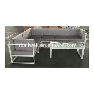 2018 suzhou garden furniture outdoor white aluminum sofa made in china AWAF9654 2018 white aluminum sofa