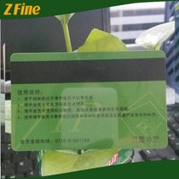 CR80 standard credit size clear business card