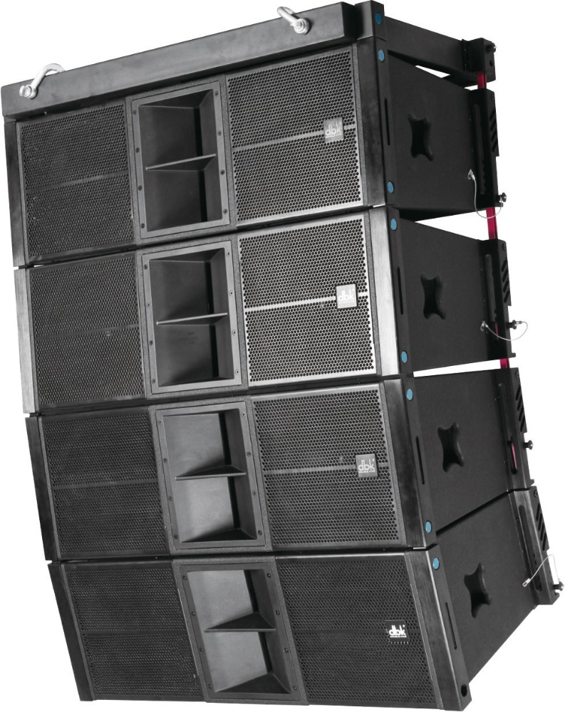 "powerful dual 12 "" 2-way line array enclosure speakers box EL212 with rcf speaker china from dbk"