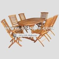 Krakatoa set table chairs teak garden furniture