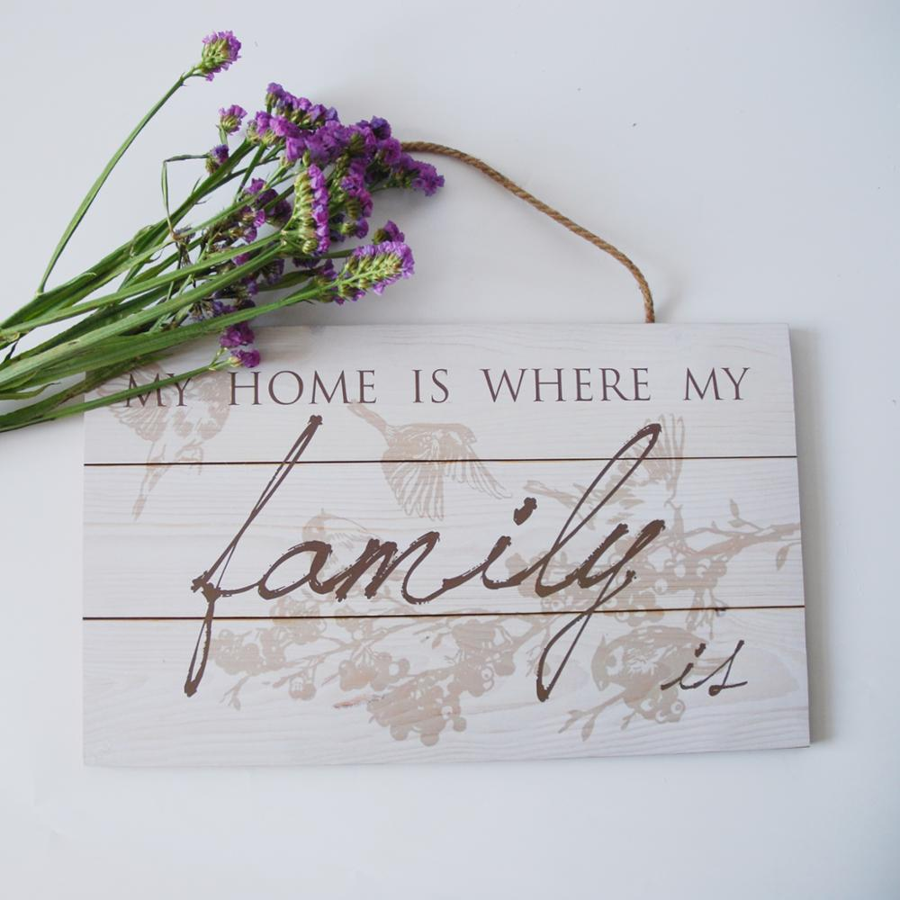 MUITO BOM PREÇO qualidade placas de sinal de madeira placa de parede para decoração de casa