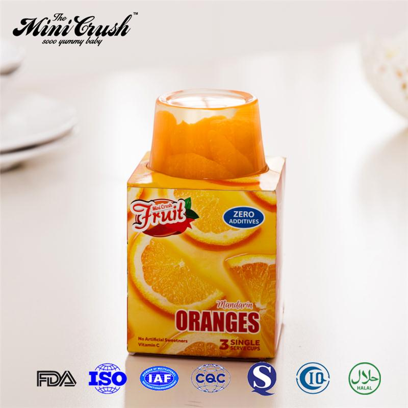 (4 oz) fruit cup canned mandarin orange fruit in syrup