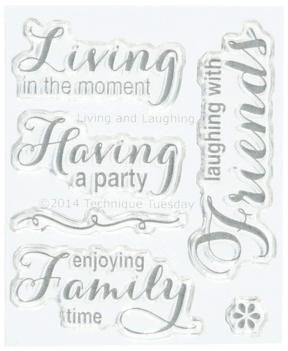 """Technique Tuesday Living & Laughing Stamps, 2"""" by 2.5"""", Clear"""