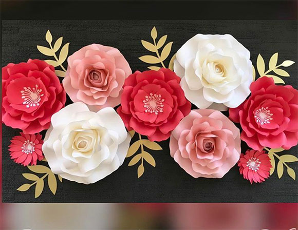Hot Selling Giant Paper Flowers Wall,Wedding Paper Flower Backdrop ...