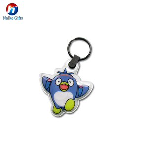 2018 Keychain Souvenir Mini Led Keychain Key Rings Plastic Key PVC Led Logo Keychain