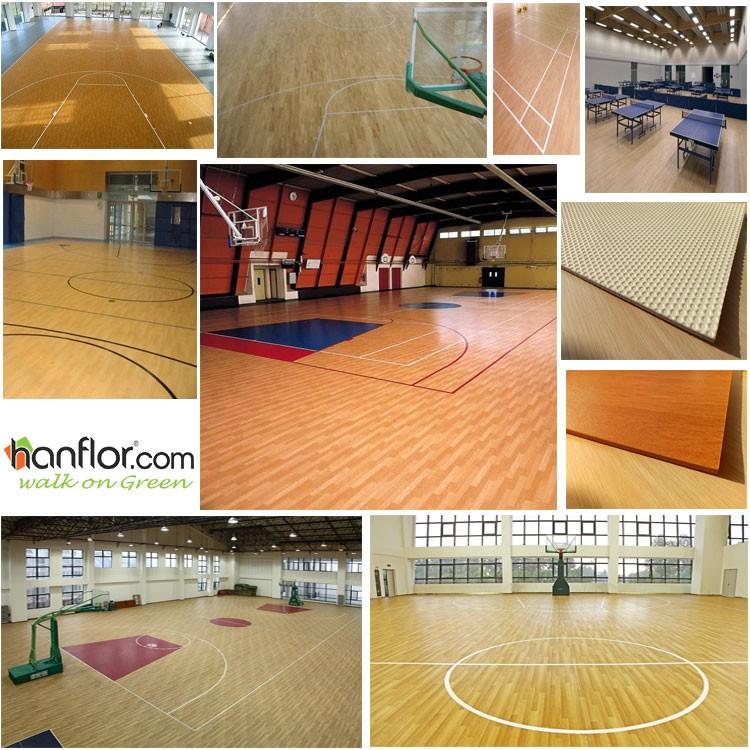 Durable non - slip pvc used basketball flooring.jpg
