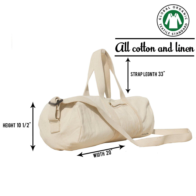 Canvas Duffle Bags for Men, Diaper Bags, Maternity Bag,Sports bag - GOTS Certified Organic Cotton Canvas Duffels Luggage Travel Totes Messenger Bags (duffel bag)