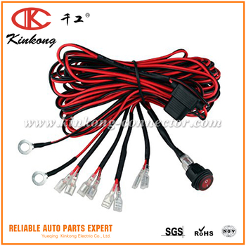 Custom Wiring Harness Kit 9.8ft On Off Switch Fuse Off-road Led Work on
