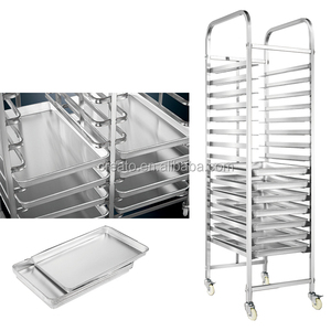 Kitchen Food Trolley Stainless Steel GN Pan Shelf Cake Cart