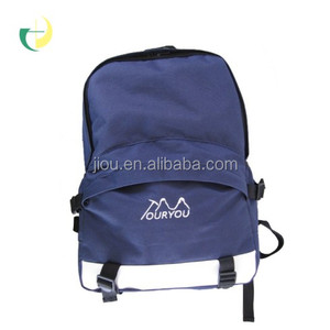 Navy blue polyester+PU leather Leisure sports backpack