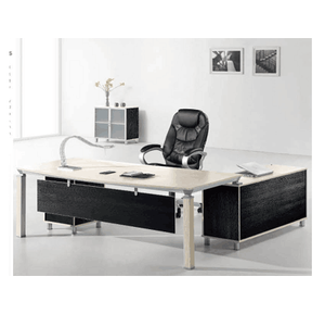 Office Work Desk Crafted From High Quality Partical Board Commercial Office Desk