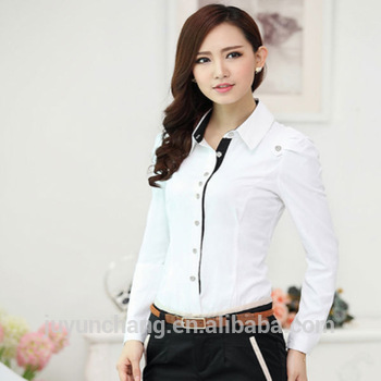 Ladies White Formal Shirt Design Ladies Casual Shirts Supplier ...